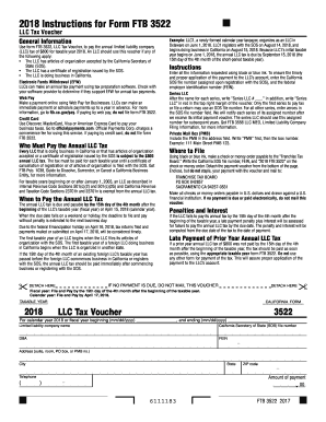Ftb Form 3522 2018 2019 Fill Out And Sign Printable Pdf Template