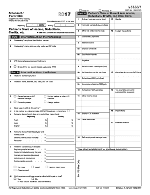 Schedule K 1 2017-2018 Form - Fill Out and Sign Printable