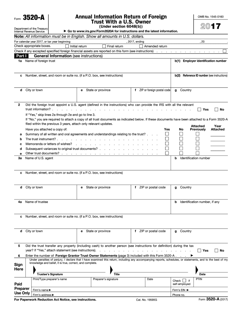 Get And Sign Irs 3520  Form 2017-2021