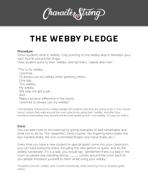 Get And Sign Webby Pledge Form