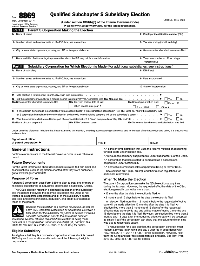 Get And Sign 8869 Form 2017-2021