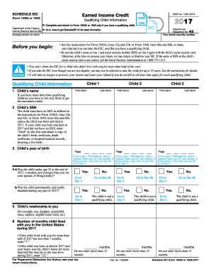 2017 Eic Worksheet Fill Out And Sign Printable Pdf Template Signnow