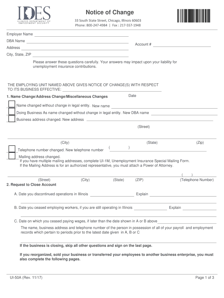 Get And Sign Ui 50a 2017-2021 Form