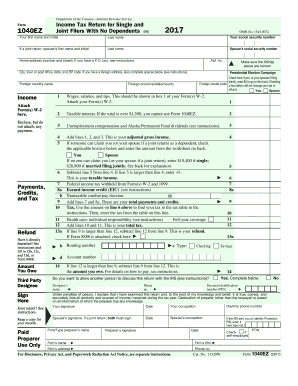 1040 Ez Fill Out And Sign Printable Pdf Template Signnow