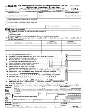 2017 Form 1040 Fill Out And Sign Printable Pdf Template Signnow