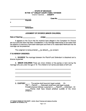 Out A Michigan In Printable And Form Divorce Motion Sign Signnow Template Fill Document - Example Pdf Of