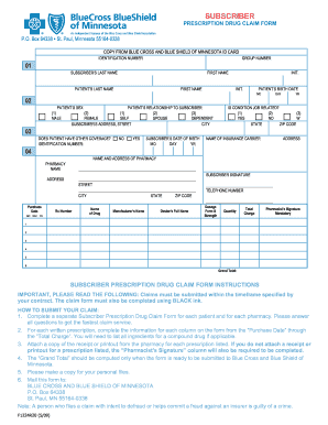 Mn bcbs claim form - Fill Out and Sign Printable PDF Template | SignNow