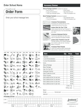 Yearbook Jostens Form Fill Out And Sign Printable Pdf Template