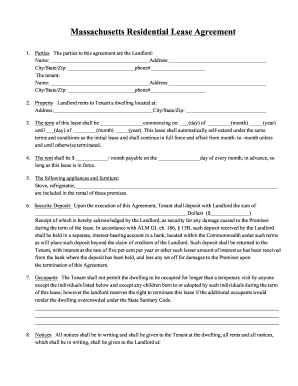 Download Standard Version Free Rental Lease Agreement Forms