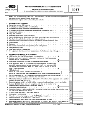 4626 2017-2018 form - Fill Out and Sign Printable PDF
