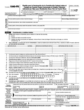 1040pr 2017 Form Fill Out And Sign Printable Pdf Template Signnow