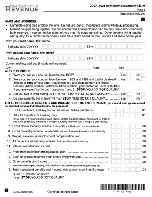 photograph about Printable Rebate referred to as Iowa hire rebate 2017-2019 variety - Fill Out and Indication
