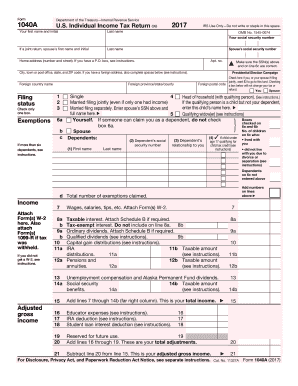 Get and Sign 1040A 2015 2017-2018 Form