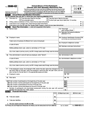 Form 5500 2017-2018 - Fill Out and Sign Printable PDF