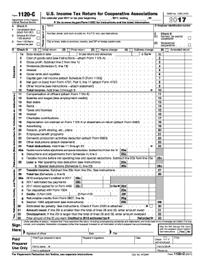 Form 1120 c 2017-2018 - Fill Out and Sign Printable PDF