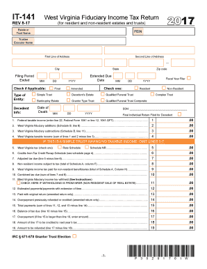 Get And Sign Wv It 141 2017-2019 Form - Fill Out and Sign Printable