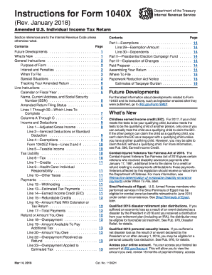 Form 1040x instructions 2018-2019 - Fill Out and Sign Printable PDF