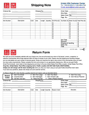graphic regarding Will Return Sign Printable identified as Uniqlo return style - Fill Out and Signal Printable PDF