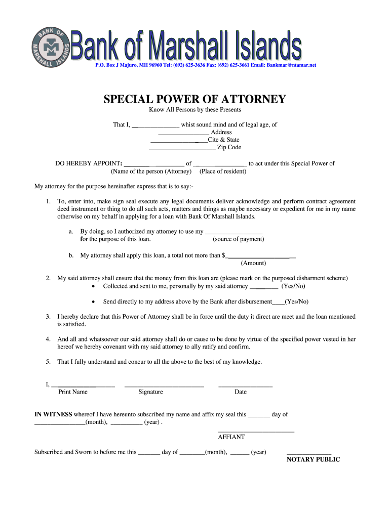 Get And Sign Power Of Attorney docx Bank Of Marshall Islands Bomi Form