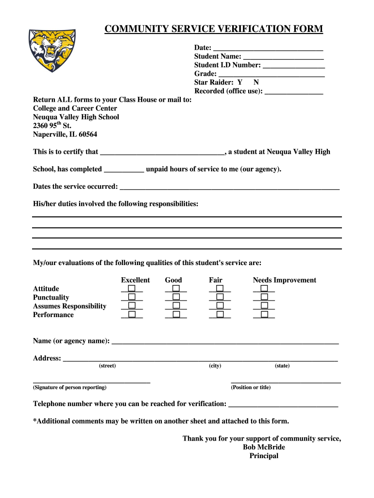Get And Sign Community Service Application Form