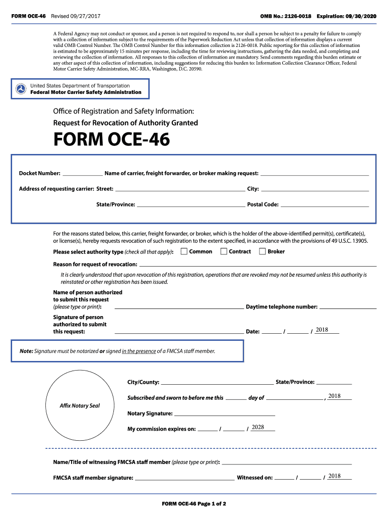 Get And Sign Form Oce 46 2017-2021