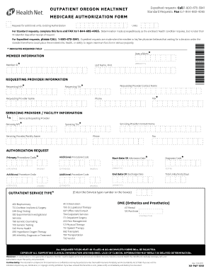 Get And Sign Medicare Outpatient Prior Authorization Fax Form Health Net 2017-2021