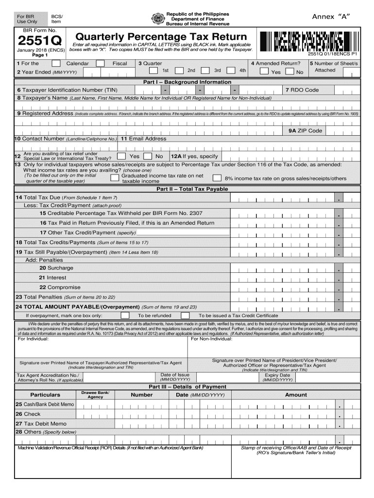 Get And Sign Bir Form 2551q Pdf 2018-2021