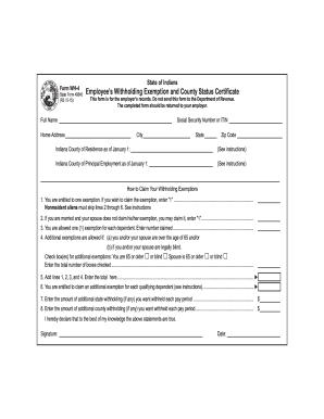 form w 4 indiana  Get And Sign Indiana Wh 6 6-6 Form - Fill Out and Sign ...