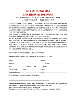 Get And Sign City Of Royal Oak Car Show In The Park ... Vans Application Print Out Form on del taco application printable out, vans job application 2015, vans application for employment, vans career application, vans store job application, vans off the wall application,