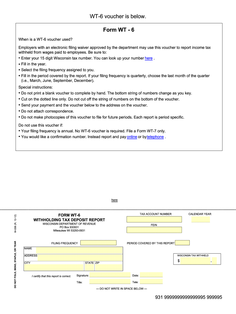 Get And Sign Wt 6 2012-2021 Form