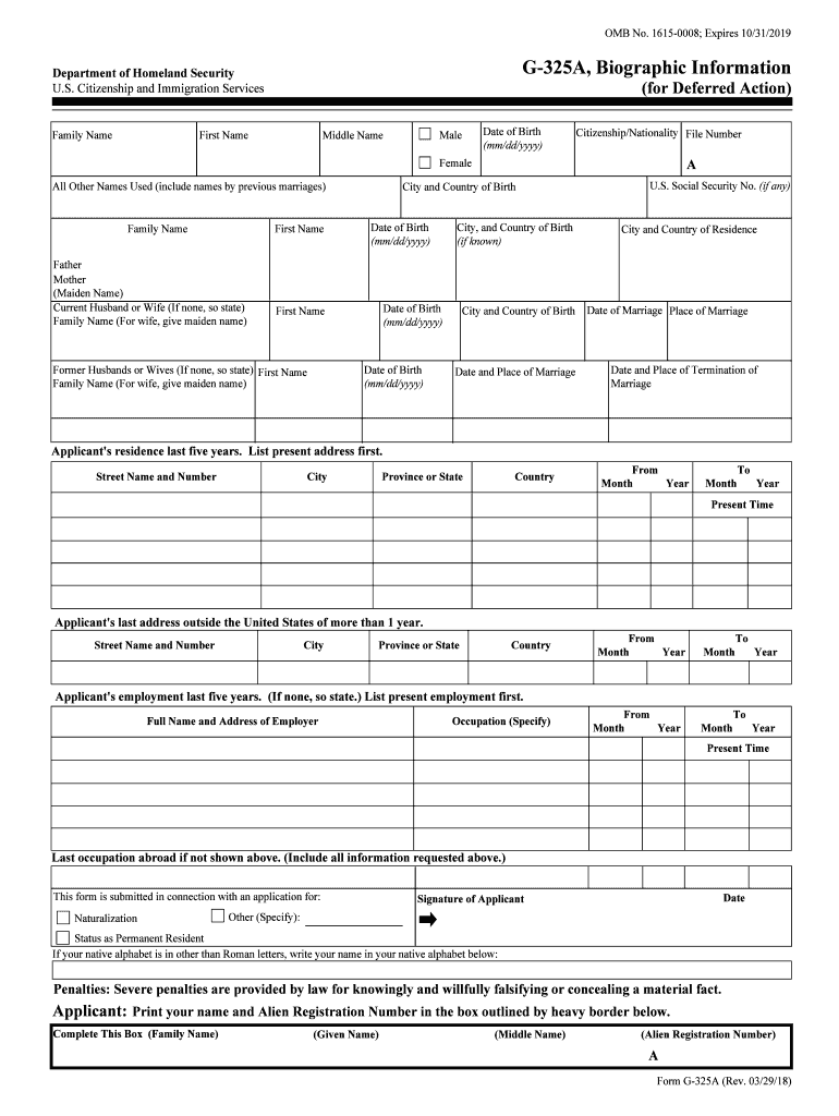 Get And Sign Form G 325a 2018-2021
