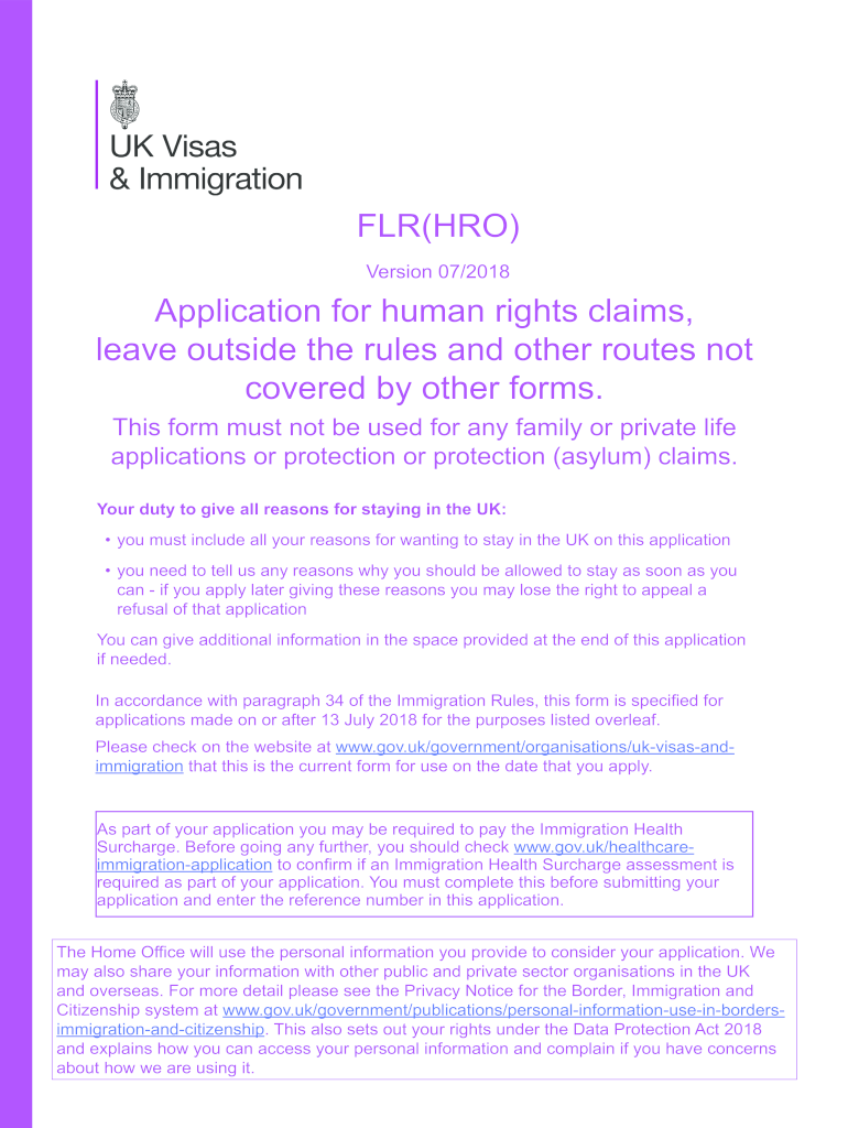 Get And Sign Flr Hro Form