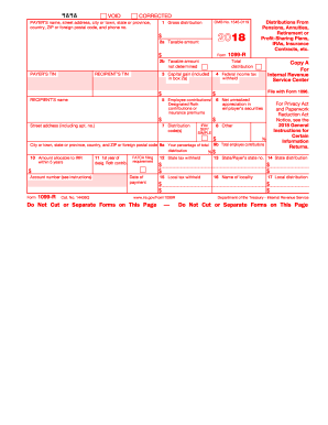 1099 r 2018 form - Fill Out and Sign Printable PDF Template