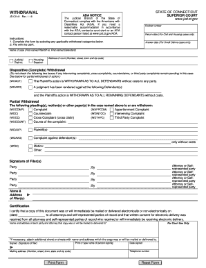 Get And Sign Connecticut Withdrawal 2018-2021 Form