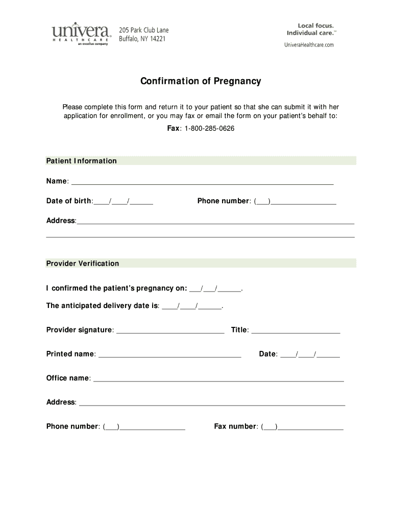 pregnancy test results paperwork