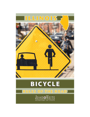 Get And Sign Illinois Bicycle Rules Of The Road  Illinois Secretary Of State 2018-2021 Form