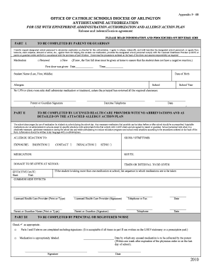 Get And Sign ADAntihistamineAdministrationForm doc 2010-2021