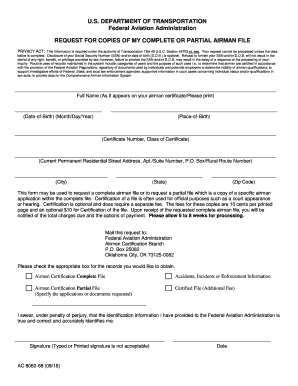 Get And Sign Complete Airman File 2018-2021 Form