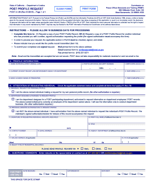 Get And Sign California Post Profile Request Form 2018-2021