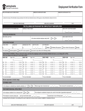 Get And Sign Employment Verification Form Apple Child Care 2015-2021