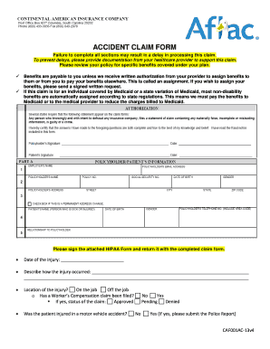 graphic relating to Aflac Printable Claim Forms named AFLAC Incident Assert Variety - Cooper Farms - Fill Out and Indicator