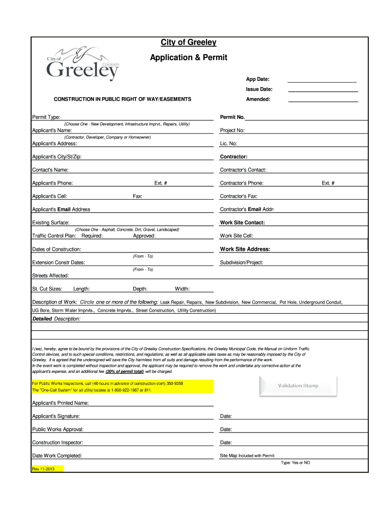 Get And Sign City Of Greeley Applications 2013-2021 Form