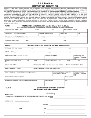 photo about Printable Fake Adoption Papers referred to as Alabama adoption write-up 2009-2019 type - Fill Out and Indicator