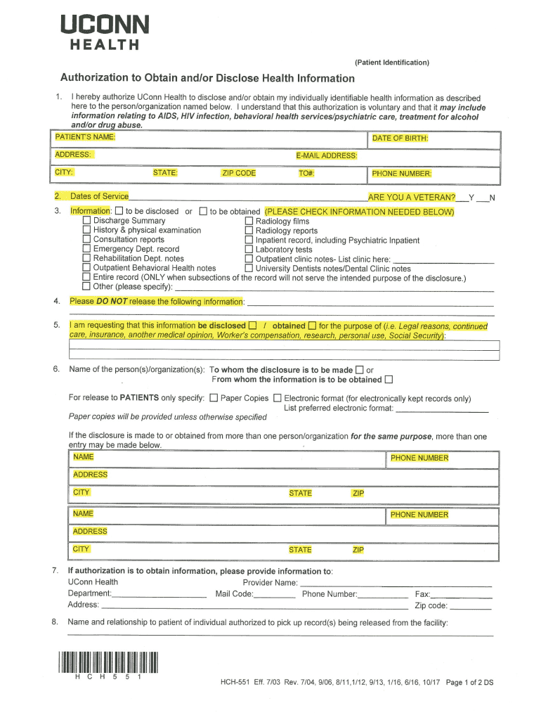 Get And Sign Hch551 2017-2021 Form