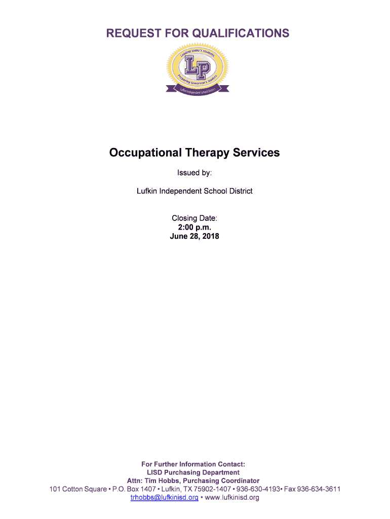 Get And Sign Occupational Therapy Services CDN 2018-2021 Form