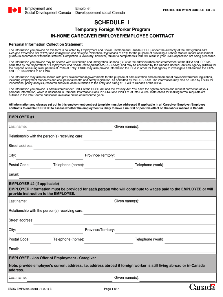 Get And Sign Esdc Emp5604 2018-2021 Form