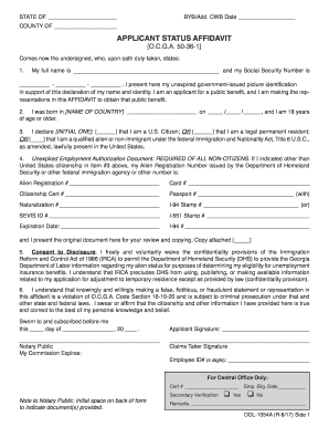 Get And Sign Ga Department Of Labor Affividate Form 2017-2019