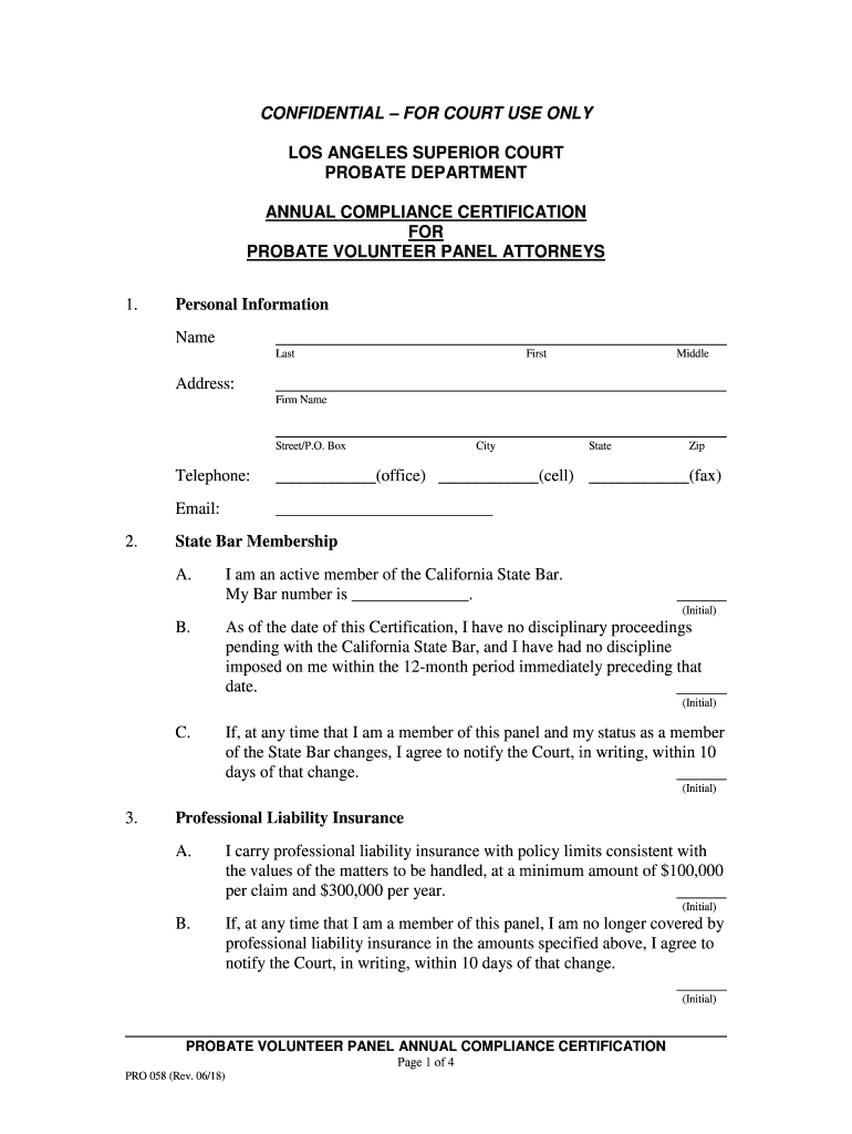 Get And Sign Confidentialfor Court Use Only Los Angeles Superior Court 2018-2021 Form
