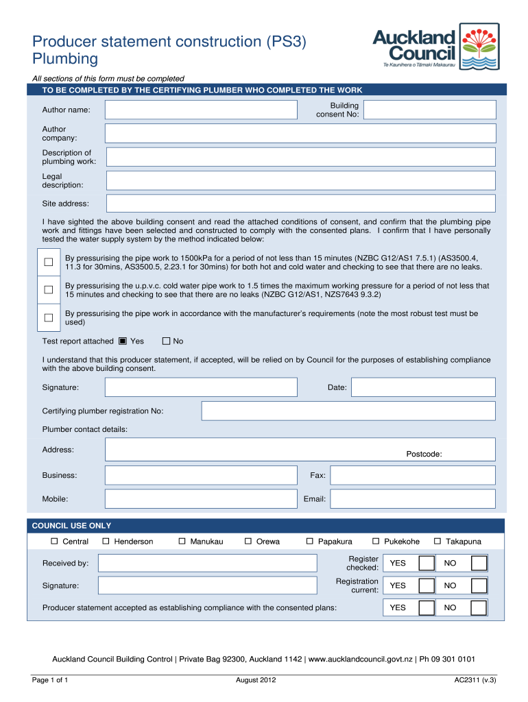 Get And Sign Producer Statement Ps3 2012-2021 Form