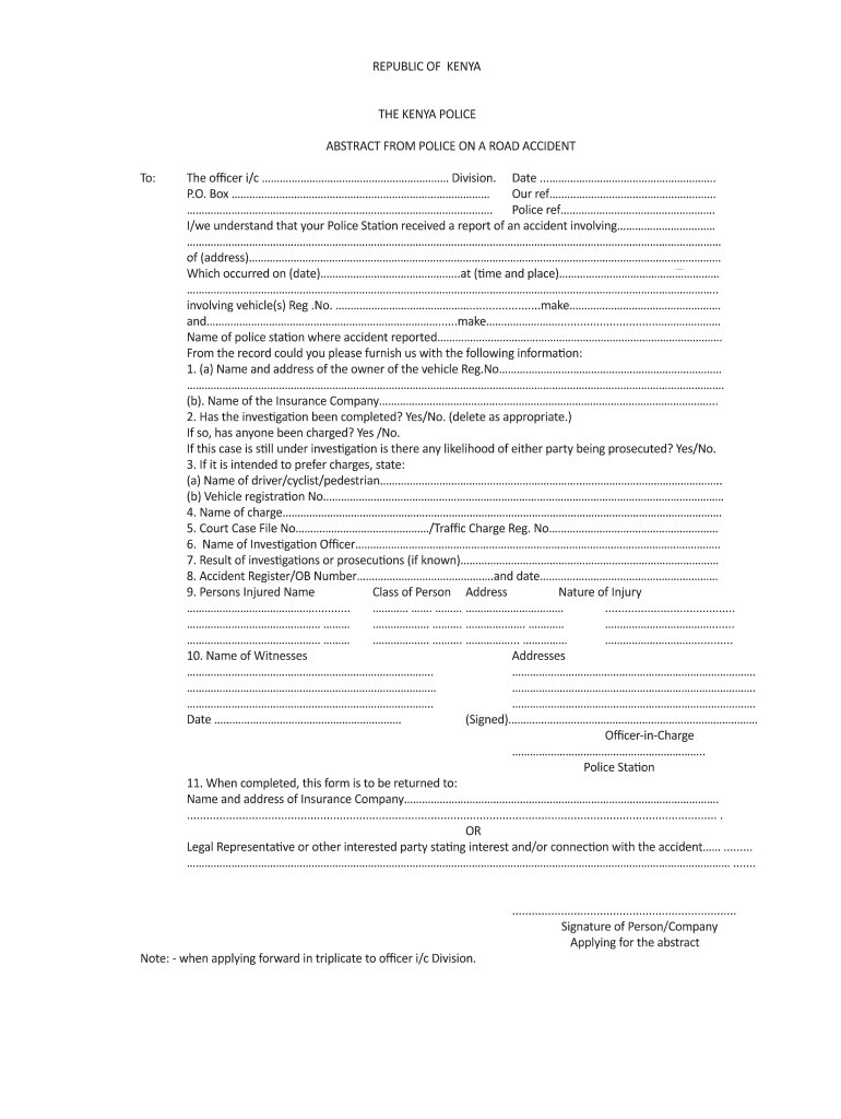 Get And Sign Police Abstract Form
